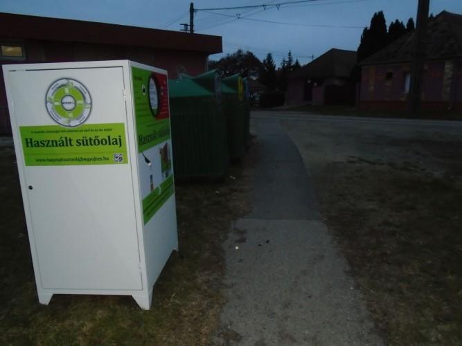 Mostantól a használt sütőolajat, zsírt is lehet gyűjteni Győrsövényházon