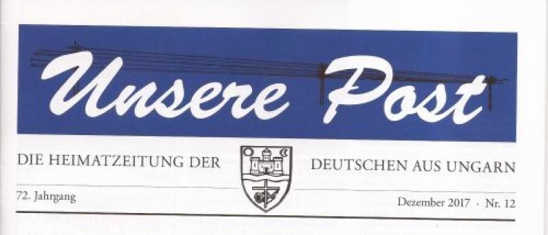 Győrsövényházhoz kötődő cikkek a német Unsere Postban