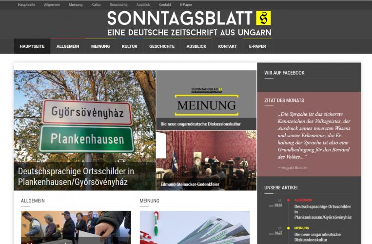 A Sonntagsblatt.hu beszámolt az új, német nyelvű falutáblákról