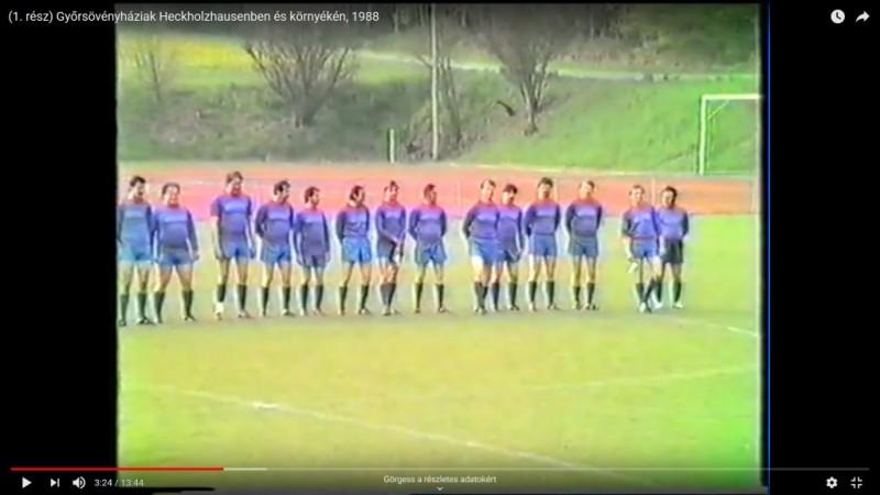 1988-as videón a győrsövényháziak NSZK-beli tartózkodása