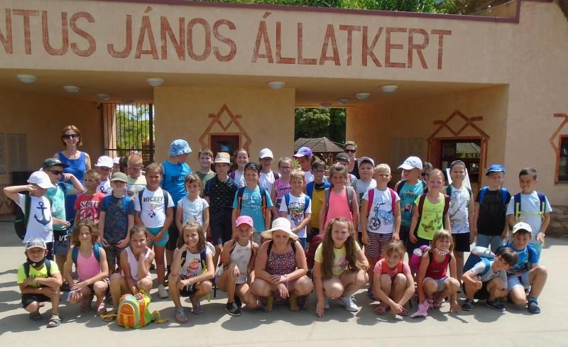 Győrsövényházi gyerekek az enesei iskola táborában